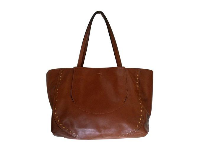 Chloé Handbag Handbags Leather Brown ref.24575