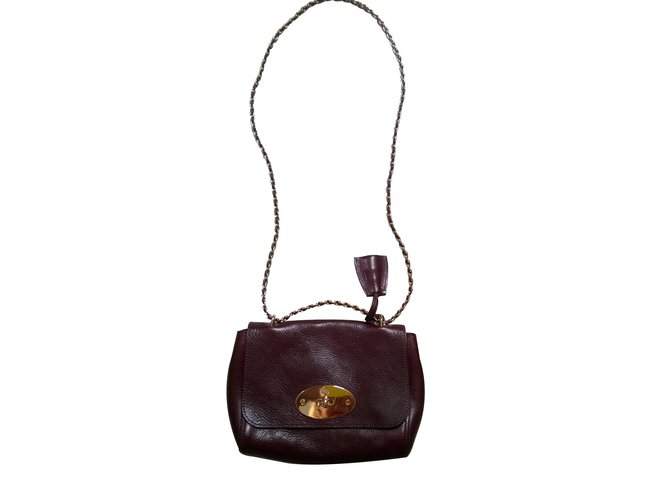 Mulberry Lily Handbags Leather Dark red ref.24585