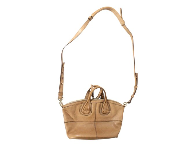 027513db184c Givenchy Nightingale Micro Handbags Leather Beige ref.24623 - Joli ...
