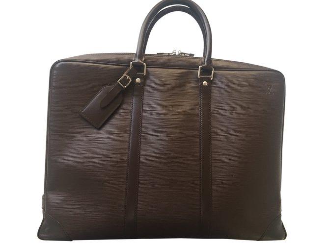 f501bcb6282c Louis Vuitton Briefcase Handbags Leather Brown ref.24767 - Joli Closet