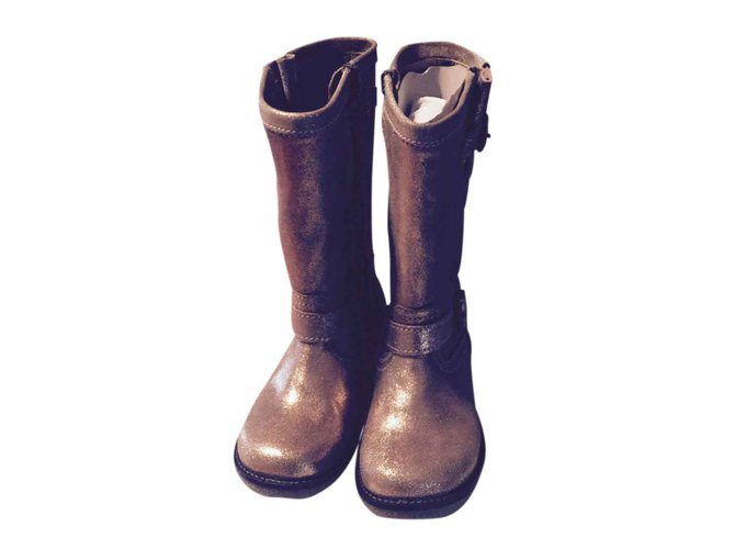 Pom d'Api Boots Boots Leather Golden ref.24834