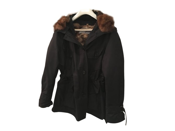Yves Salomon Parka Black Cloth  ref.25115