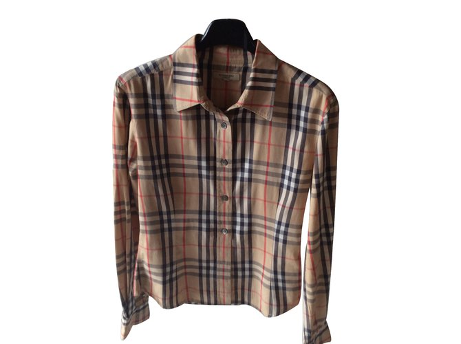 Burberry Shirt Tops Cotton Brown ref.25265
