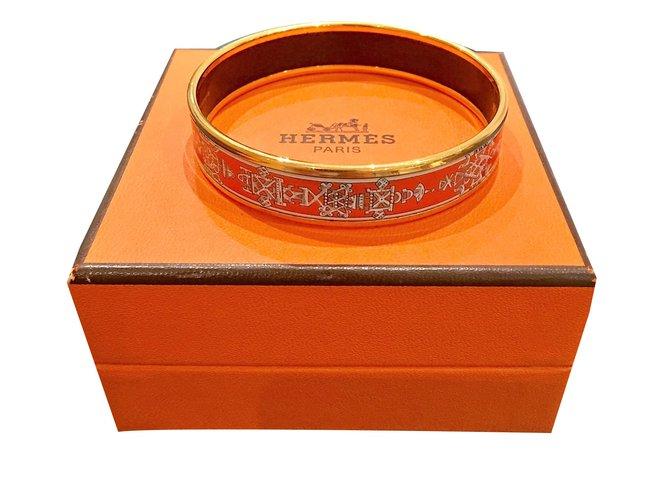 6bb7e2ffb80f Bracelets Hermès Email Métal Rouge ref.25359 - Joli Closet