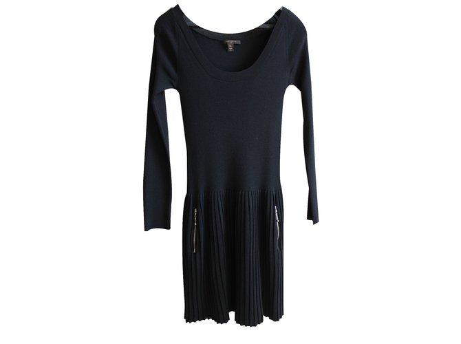 Louis Vuitton Dress Dresses Wool Black Ref25554 Joli Closet