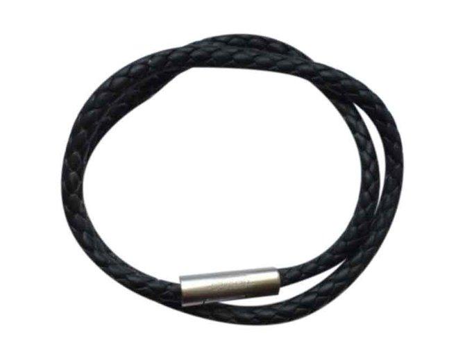 200d1300c271 Bracelets Hermès Bracelet Hermes Goliath Cuir Noir ref.25611 - Joli ...