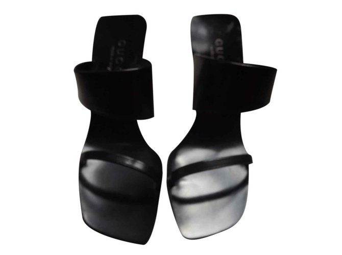 167327a05cc6 Gucci Sandals Sandals Leather Black ref.25689 - Joli Closet