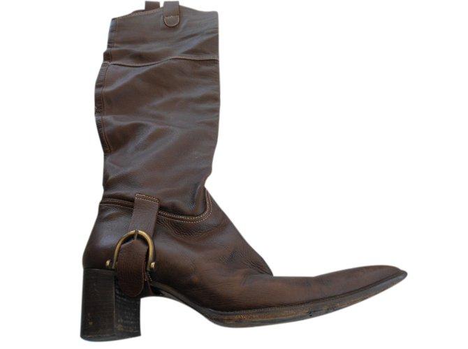 40217e0482b721 Vero Cuoio Boots Boots Leather Brown ref.26013 - Joli Closet