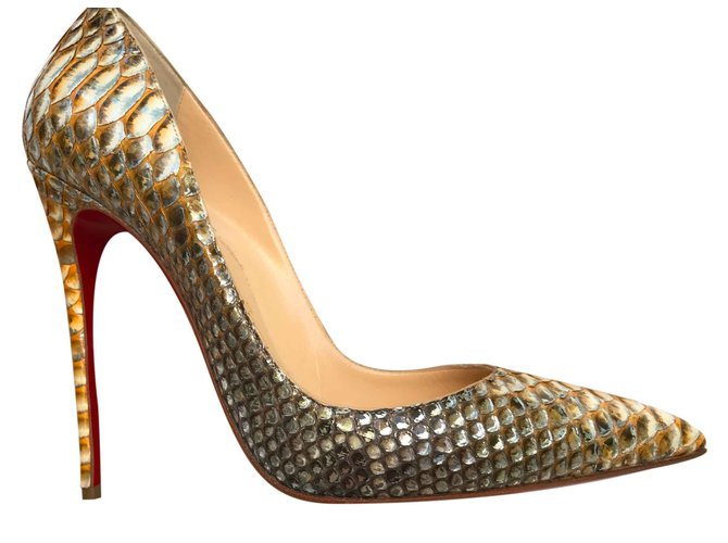 30a52aed43c0 Christian Louboutin So Kate Tropicana Heels Exotic leather Python print  ref.26024