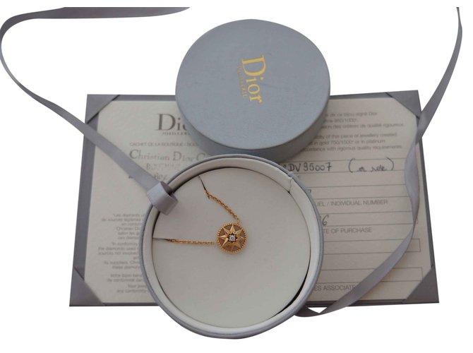 Dior Rose Des Vents Opale Rose Necklaces Pink Gold Pink Ref 26046