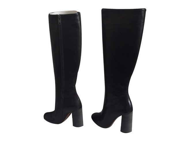 Chloé Boots Boots Leather Black ref.26194