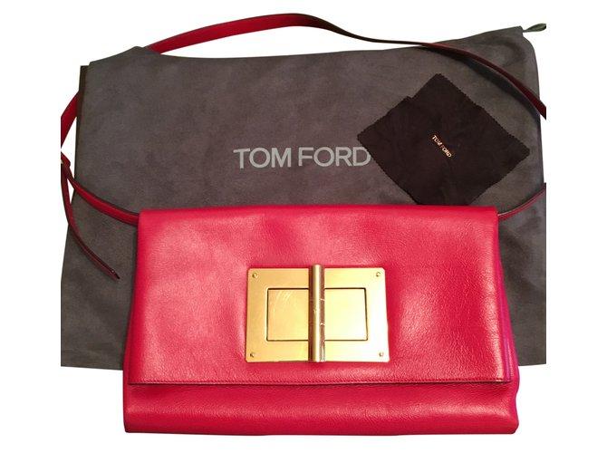 91c89de70db92 Sacs à main Tom Ford Natalia Cuir Rouge ref.26348 - Joli Closet