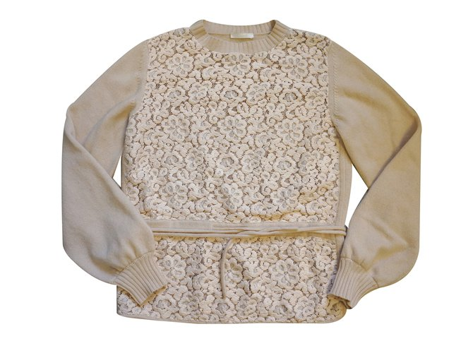 Chloé Sweater Knitwear Wool Cream ref.26387