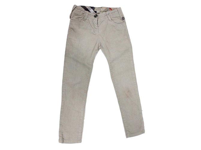 Burberry trousers kids Pants Velvet Beige ref.26487