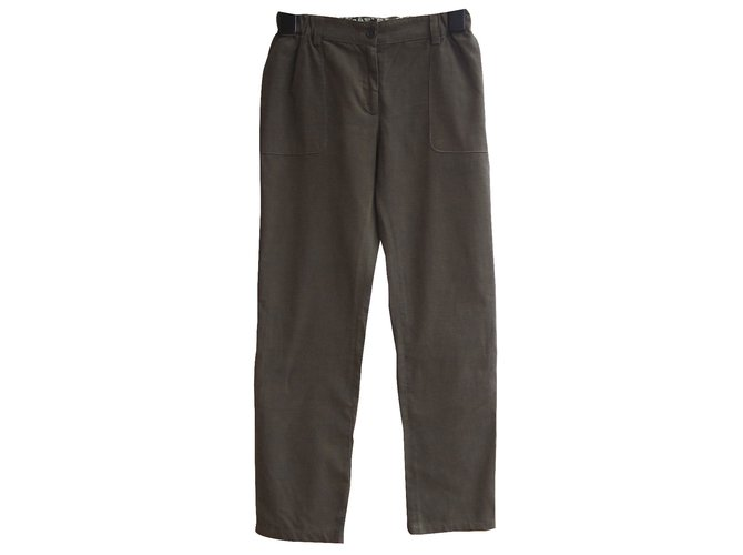 Pantalons fille Bonpoint Pantalon fille Coton Kaki ref.26502