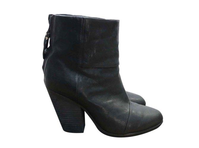 86860488a86 Rag   Bone Newbury boots Ankle Boots Leather Black ref.26630 - Joli ...