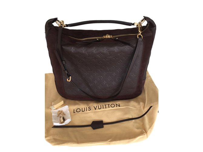 Sacs à main Louis Vuitton Audacieuse GM Cuir Marron ref.26695