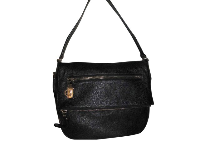 f62e8b713 Salvatore Ferragamo Handbag Handbags Leather Black ref.26653 - Joli ...