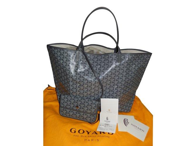 Goyard Saint Louis GM Handbags Cloth Grey ref.26719 - Joli Closet 1f1ab69d25e