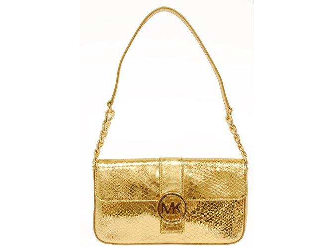 handbag michael kors gold