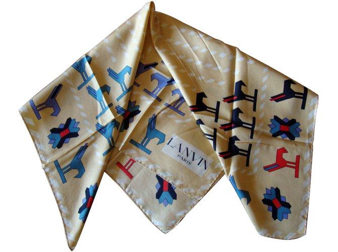 Carrés Lanvin Carrés Soie Multicolore ref.26984