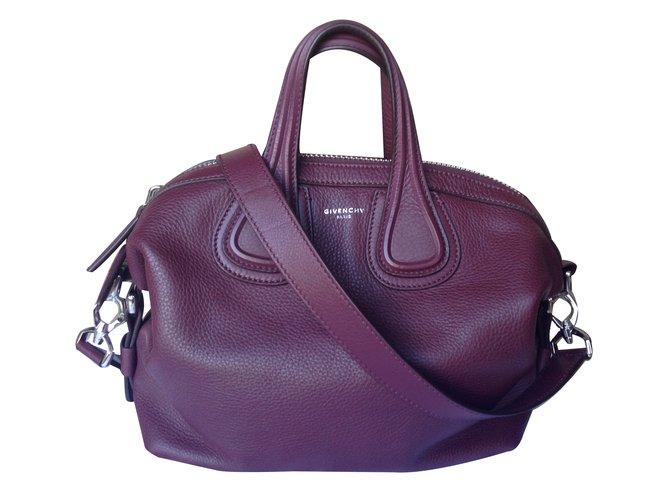 Givenchy Handbag Handbags Leather Dark Red Ref 27047