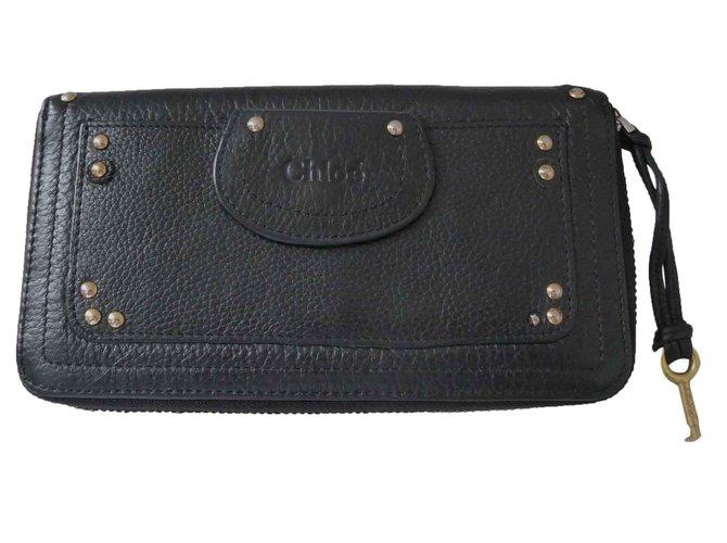 Chloé Purse wallet Purses, wallets, cases Leather Black ref.27113