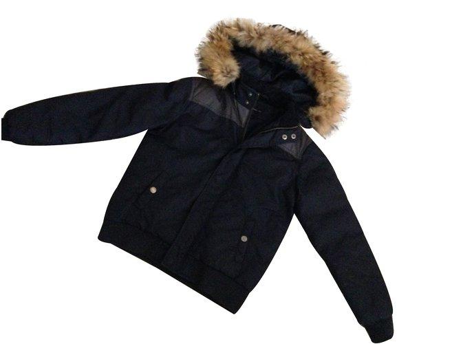 Teddy Smith Coat Boy Coats Outerwear Polyamide Blue ref.27279 - Joli ... c5eccdf2f978