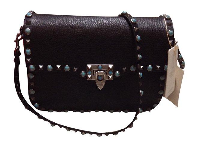 Valentino Garavani Handbag Handbags Leather Black Ref 27298