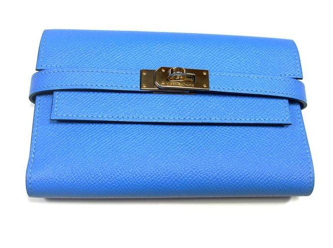 Hermès Kelly Purse Purses, wallets, cases Leather Blue ref.27632