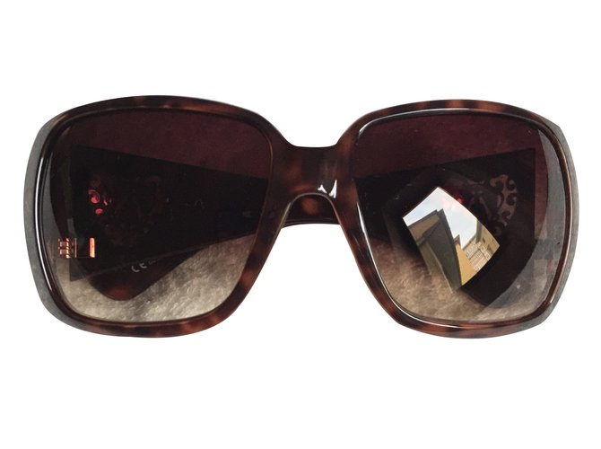834cf0e669a Gucci Brown heart sunglasses Sunglasses Plastic Brown ref.27646 ...