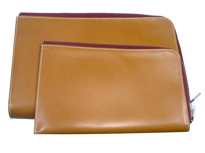 Hermès Purses, wallets, cases Purses, wallets, cases Leather Caramel ref.27663