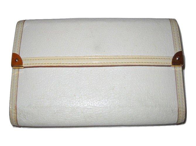 Portefeuilles Louis Vuitton portefeuille cuir Suhali Cuir Blanc ref.27665 8779afbd782