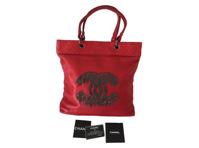 Sacs à main Chanel Sacs à main Cuir Rouge ref.27676