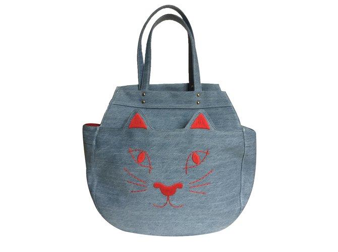 Charlotte Olympia Handbag Handbags Denim Blue Ref 27680