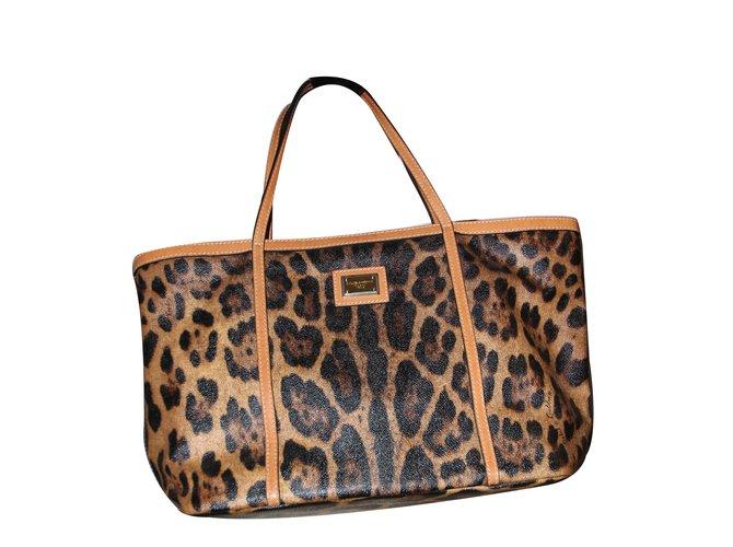 b547d895e631 Dolce   Gabbana Handbag Handbags Leather Leopard print ref.27695 ...