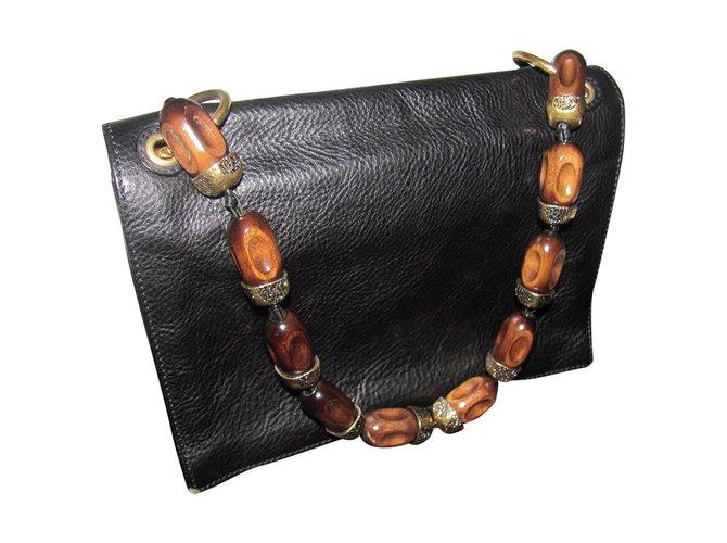 5a0cecbc6a Yves Saint Laurent Handbag Handbags Leather Black ref.27750 - Joli ...