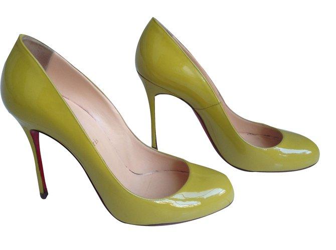 design intemporel bc04d 1c2f3 Escarpins Fifi jaune/vert