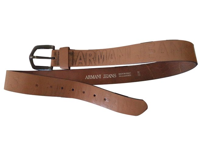 Ceintures homme Armani Jeans Ceinture cuir Cuir Marron ref.27912 ... 590b373768f