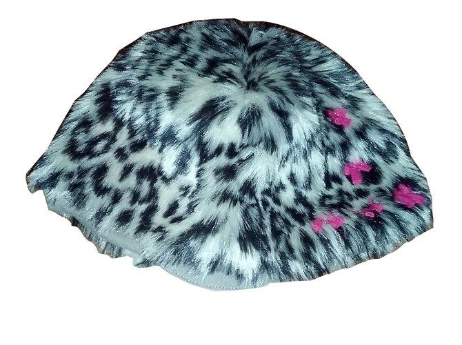 Chapeaux, bonnets, gants Autre Marque Béret ELIANE ETLENA Polyester Imprimé léopard ref.28001