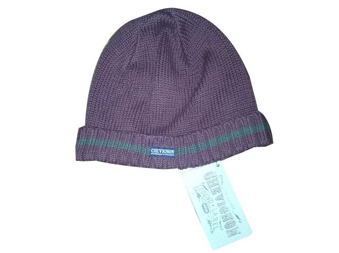Chapeaux, bonnets, gants Autre Marque Bonnet CHEVIGNON Coton Bordeaux ref.28002