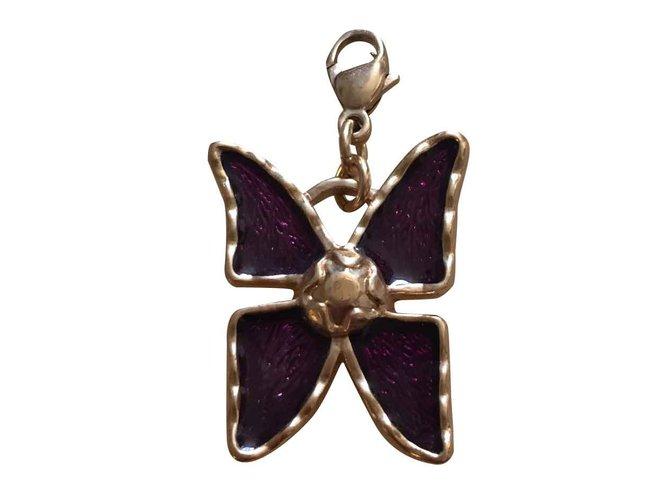 03ff9145b45 Yves Saint Laurent Pendant necklace Pendant necklaces Metal Golden,Purple  ref.28053
