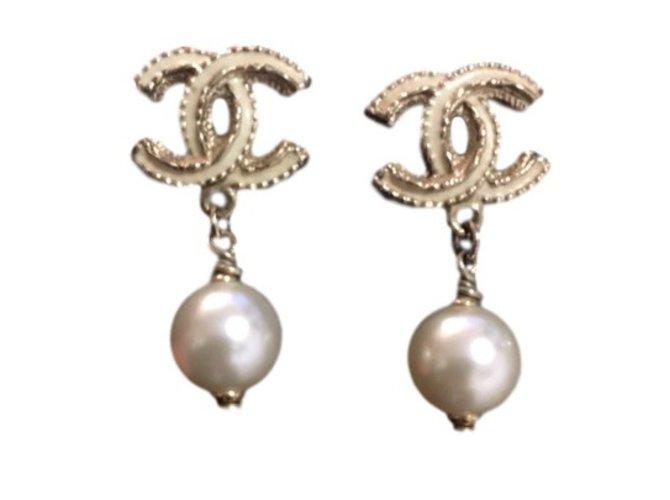 Chanel Earrings Other Beige Ref 28175