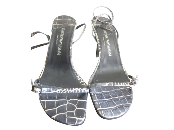 Emporio Armani Sandals Sandals Patent leather Python print ref.28329 ... a6e14aafc96