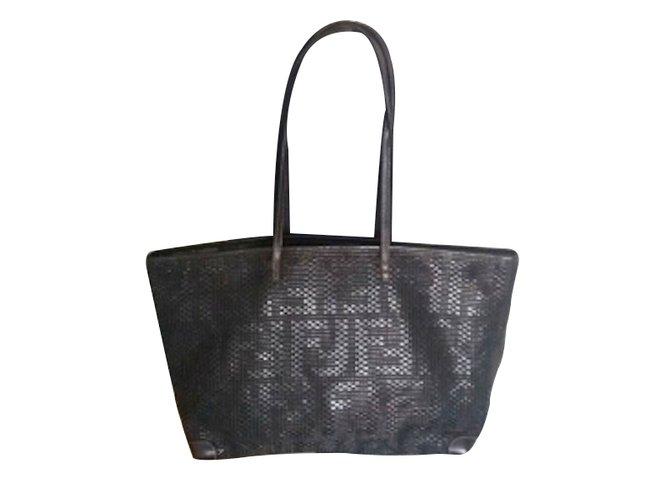 ... discount code for fendi tote totes leather black ref.28390 883ae 0f6ef  sweden fendi fendi petite 2jours handbags leather black ref.67920 ... 492a4dd11da17