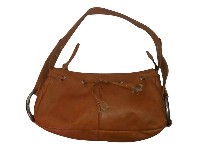 Handbags Leather Light Brown Ref 28489