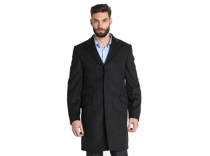 cf78019851 Trussardi TRUSSARDI COLLECTION BRAND NEW DARK GREY WOOL   CASHMERE COAT Men  Coats Outerwear Other Dark