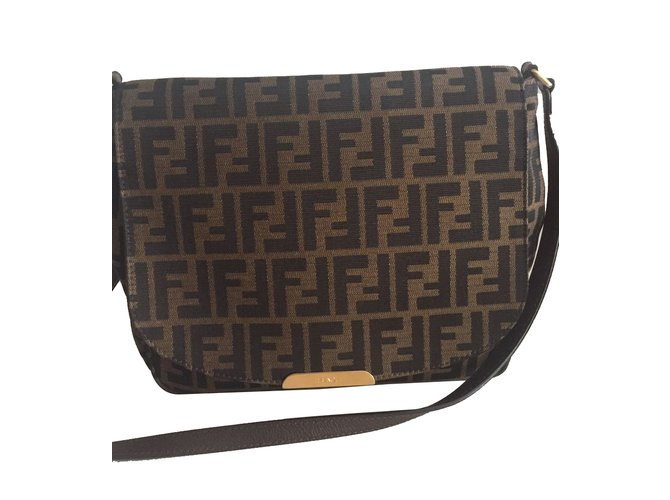 best selling new lower prices 100% top quality Fendi Zucca print bag Handbags Leather Other ref.28760 - Joli Closet