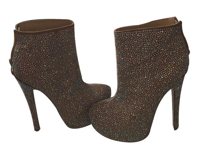 Kandee Ankle Boots Flesh Lambskin Goatskin  ref.28838