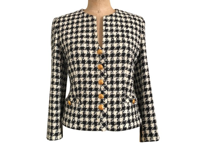db888c616420 Louis Féraud Jacket Jackets Cotton Cream ref.28863 - Joli Closet